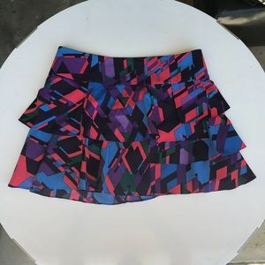 Mini-colorful skirt